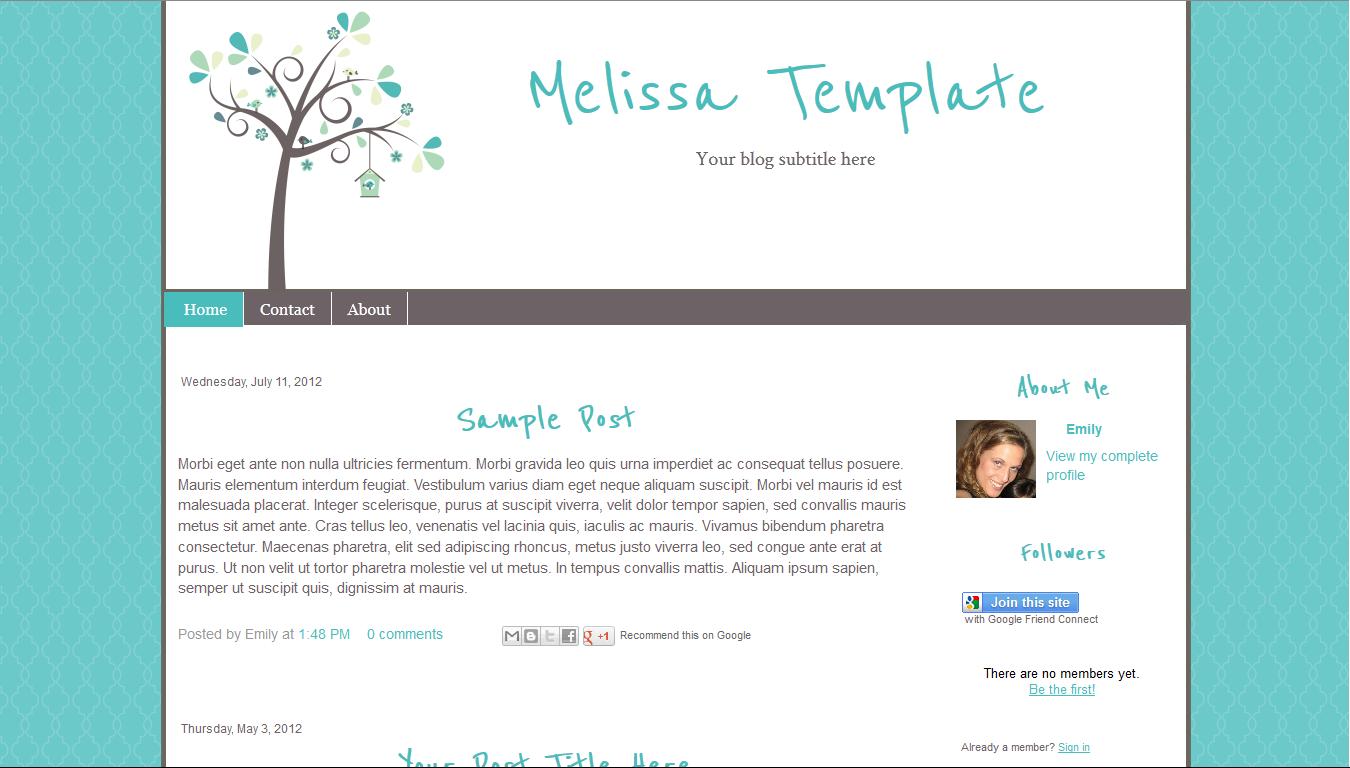 16 Design Blogger Templates Images - Blog Design Template, Free Blog ...