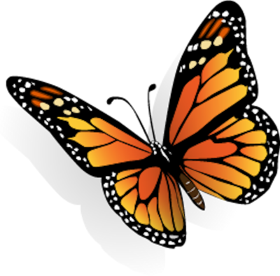 8 PSD Cartoon Butterfly Images