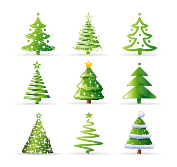 Free Christmas Tree Cartoon