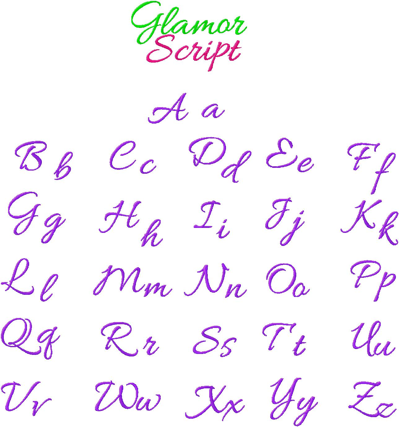 19 Embroidery Cursive Handwriting Fonts Images - Free Cursive ...