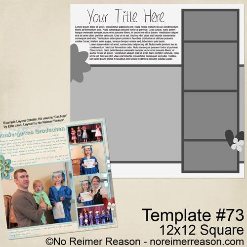 Free Digital Scrapbook Template
