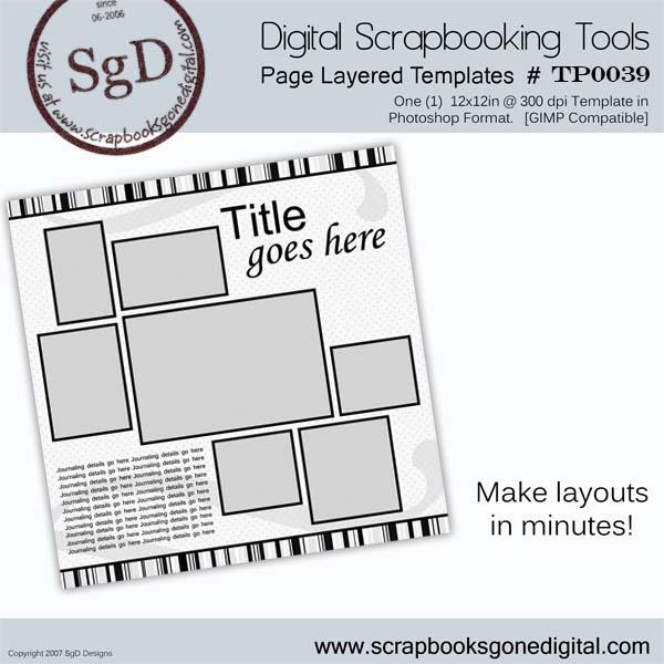 Free Digital Scrapbook Templates Photoshop