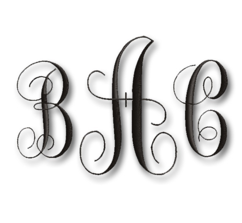 Free Letter Monogram Embroidery Designs