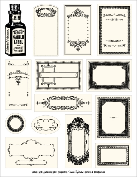 Free Printable Apothecary Bottle Labels