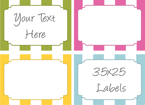 Free Printable Food Label Templates
