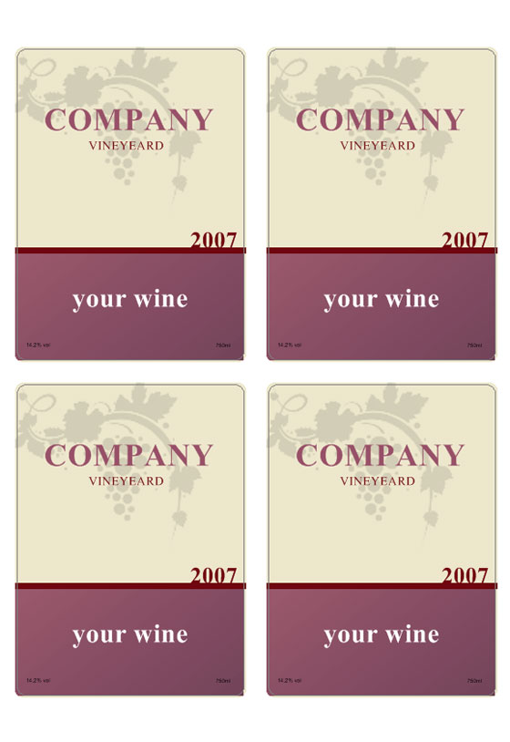 Free Printable Wine Bottle Labels Templates