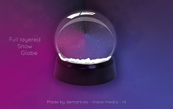10 Snow Globe PSD Images