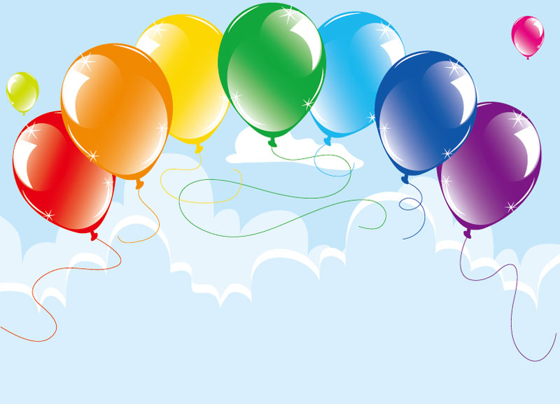19 Balloon Background Vector Images