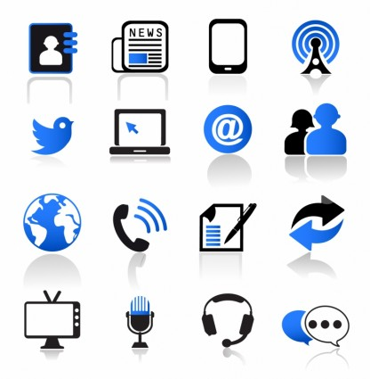 18 Communication Icons Vector Free Images