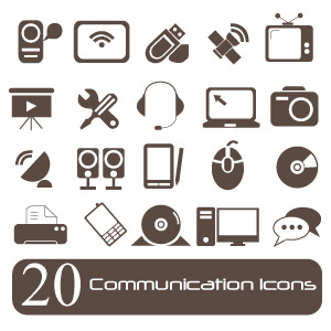 Free Vector Communication Icons