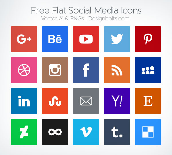 Free Vector Icons Social Media 2015