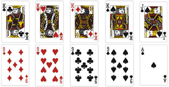 13 Vector Playing Card Template Images