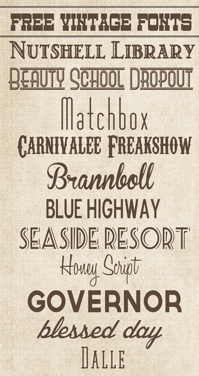12 Retro Vintage Typography Fonts Images