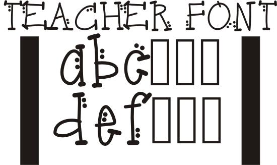 14 Fun Alphabet Letters Font Teacher Font Images
