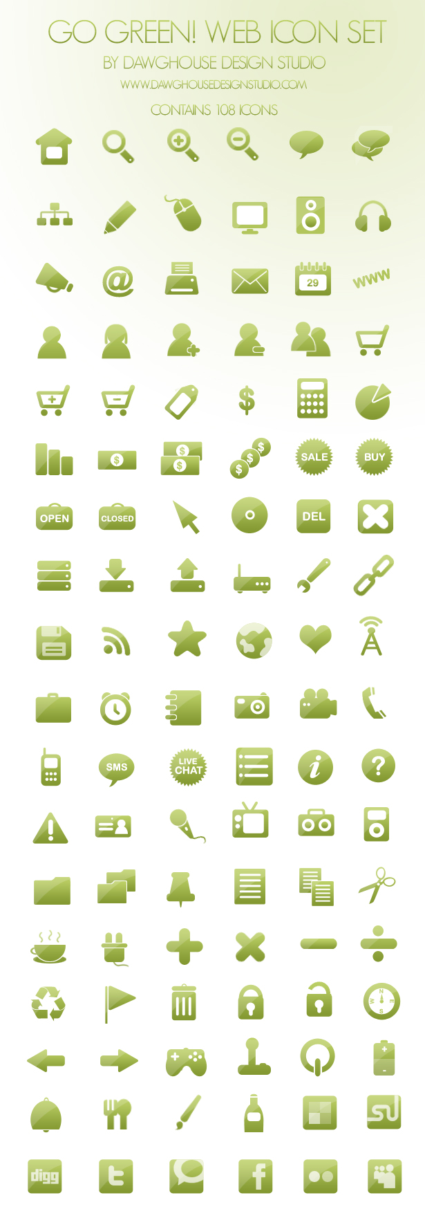 Go Green Icons Free