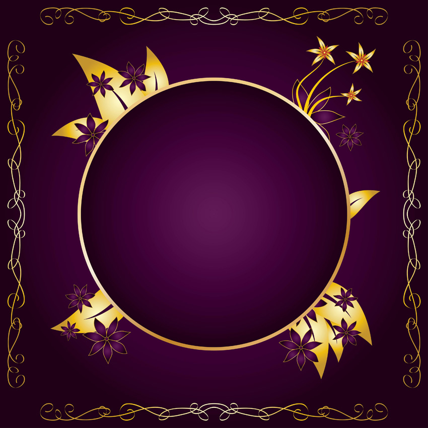 ... Purple and Gold Frame Clip Art, Purple Frame Clip Art and Gold Frame Purple Top Border Clip Art