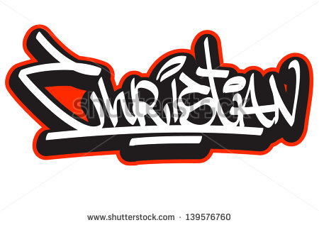 Graffiti Name Christian