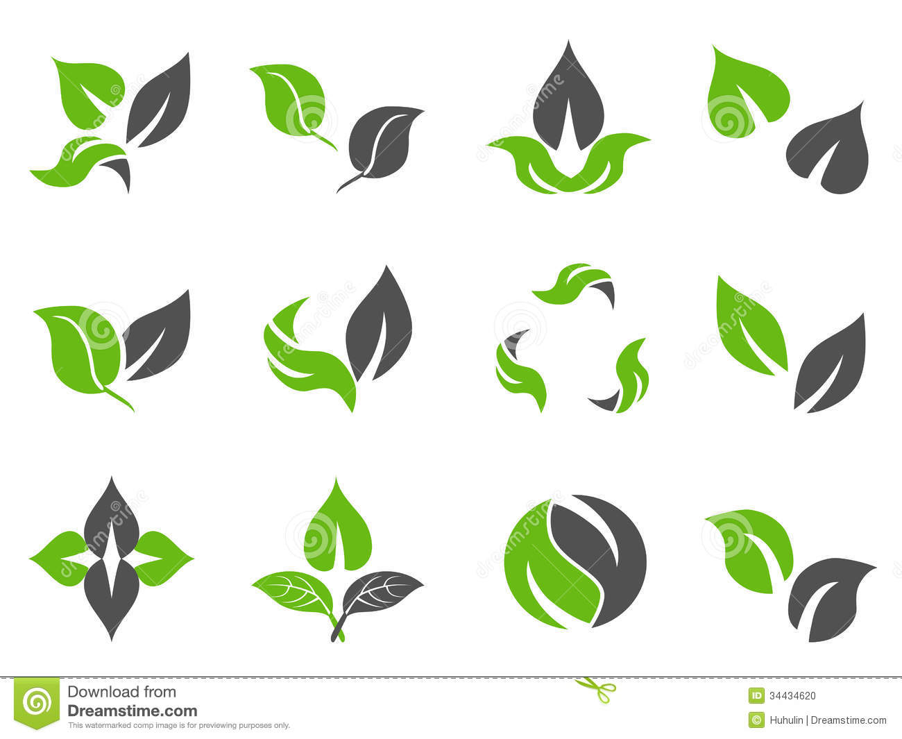 Green Leaf Icon Without Background