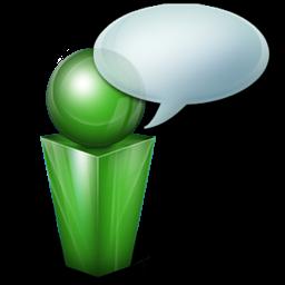 Green Messenger Icon