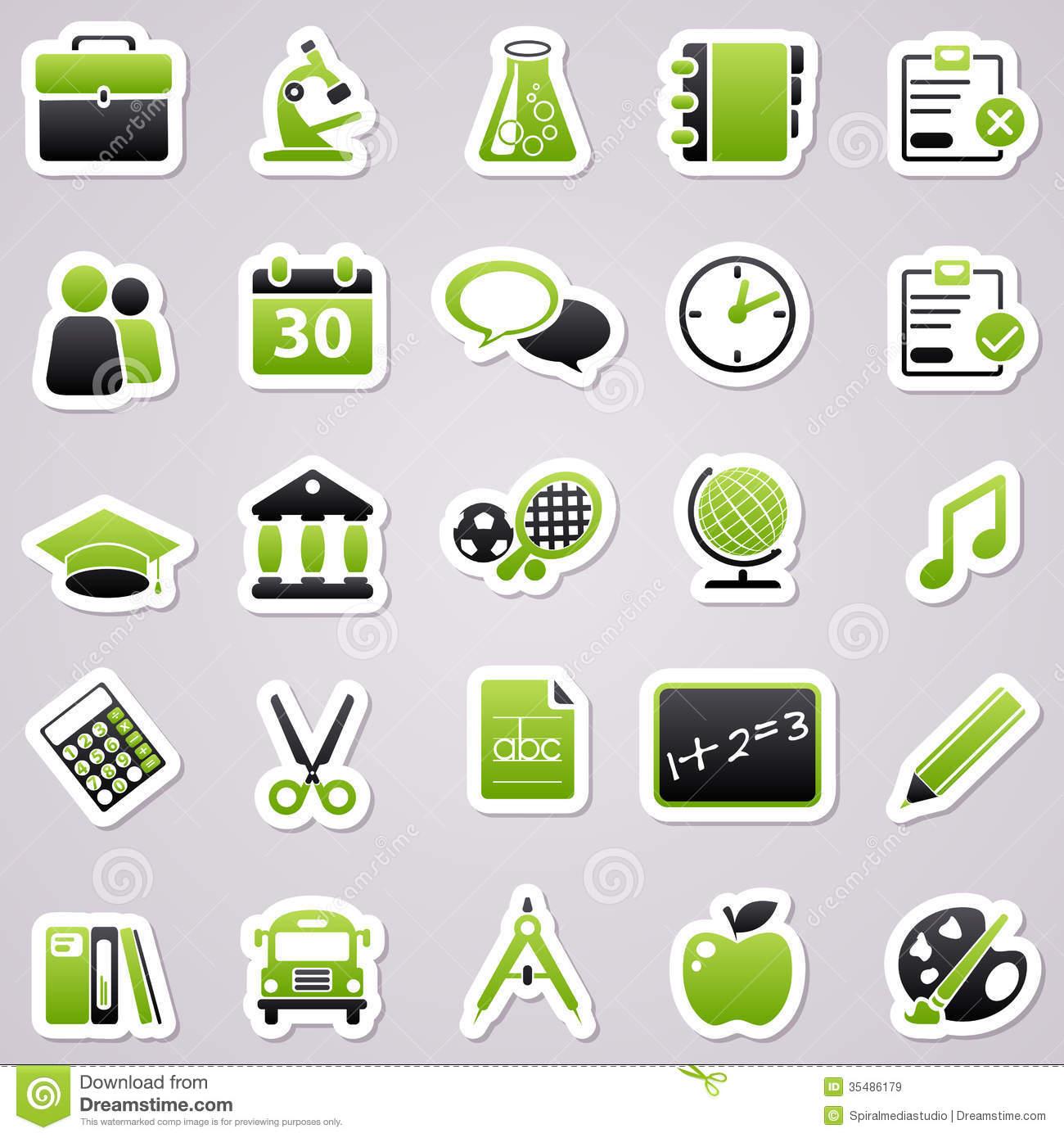 Green School Stickers