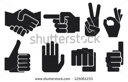 Hand with Pointing Finger Symbol