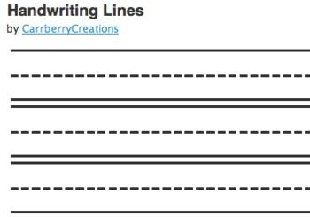 15 Primary Handwriting Line Font Images
