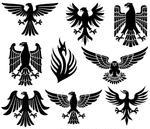 20 Victory Eagle Silhouette Vector Images