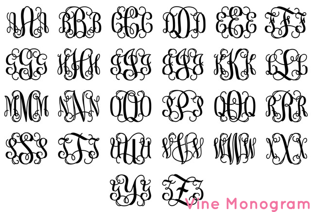 Interlocking Monogram Letters