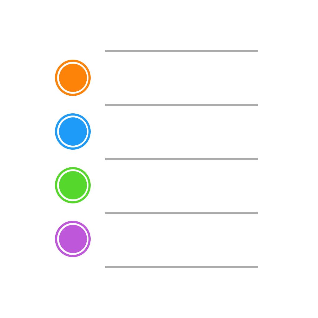iOS 7 Reminders Icon