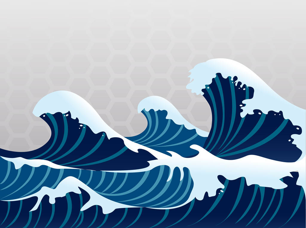 14 Japanese Wave Vector Images  Style Waves Pattern And Ocean