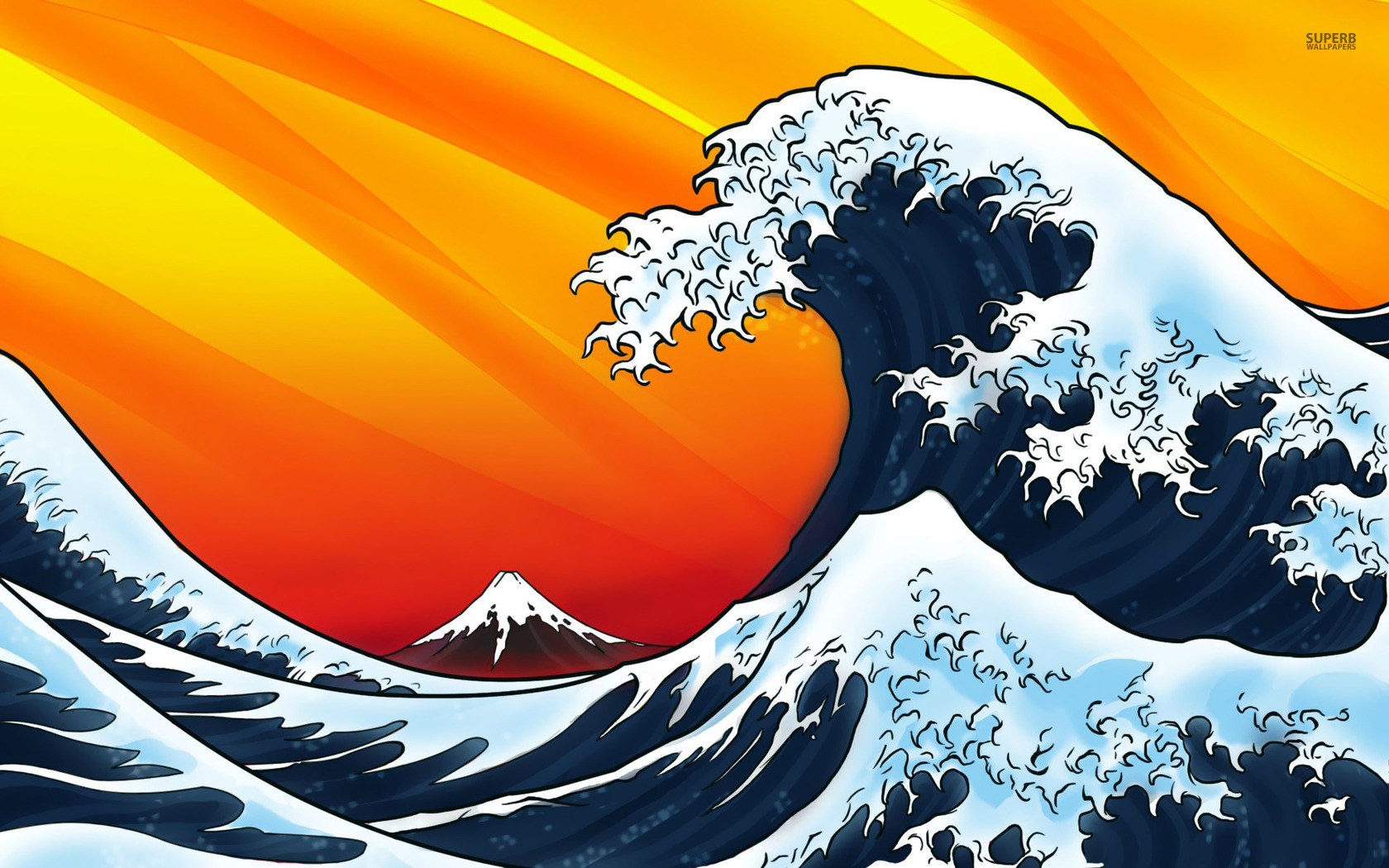 14 Japanese Wave Vector Images