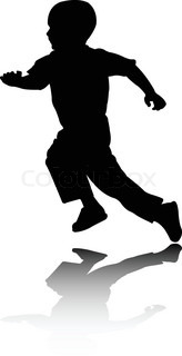 Little Boy Running Silhouette