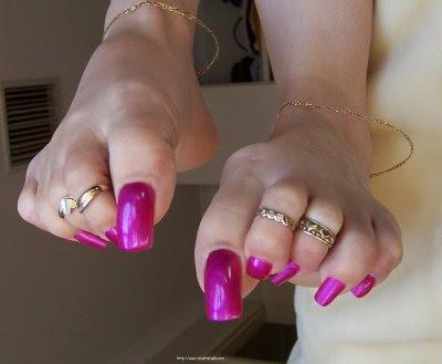 Women s long toenails