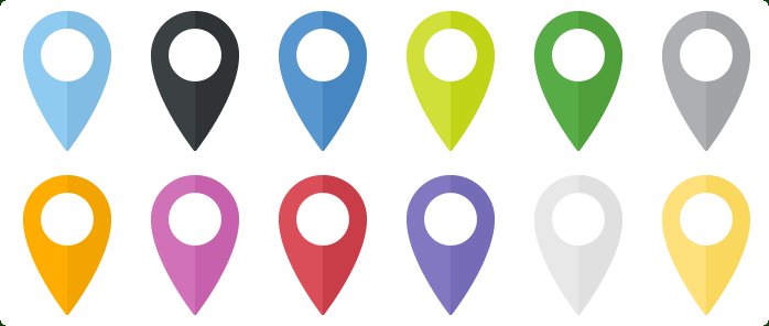 Free Google Maps Pointer Icon: Map Location Icons Flat PNG