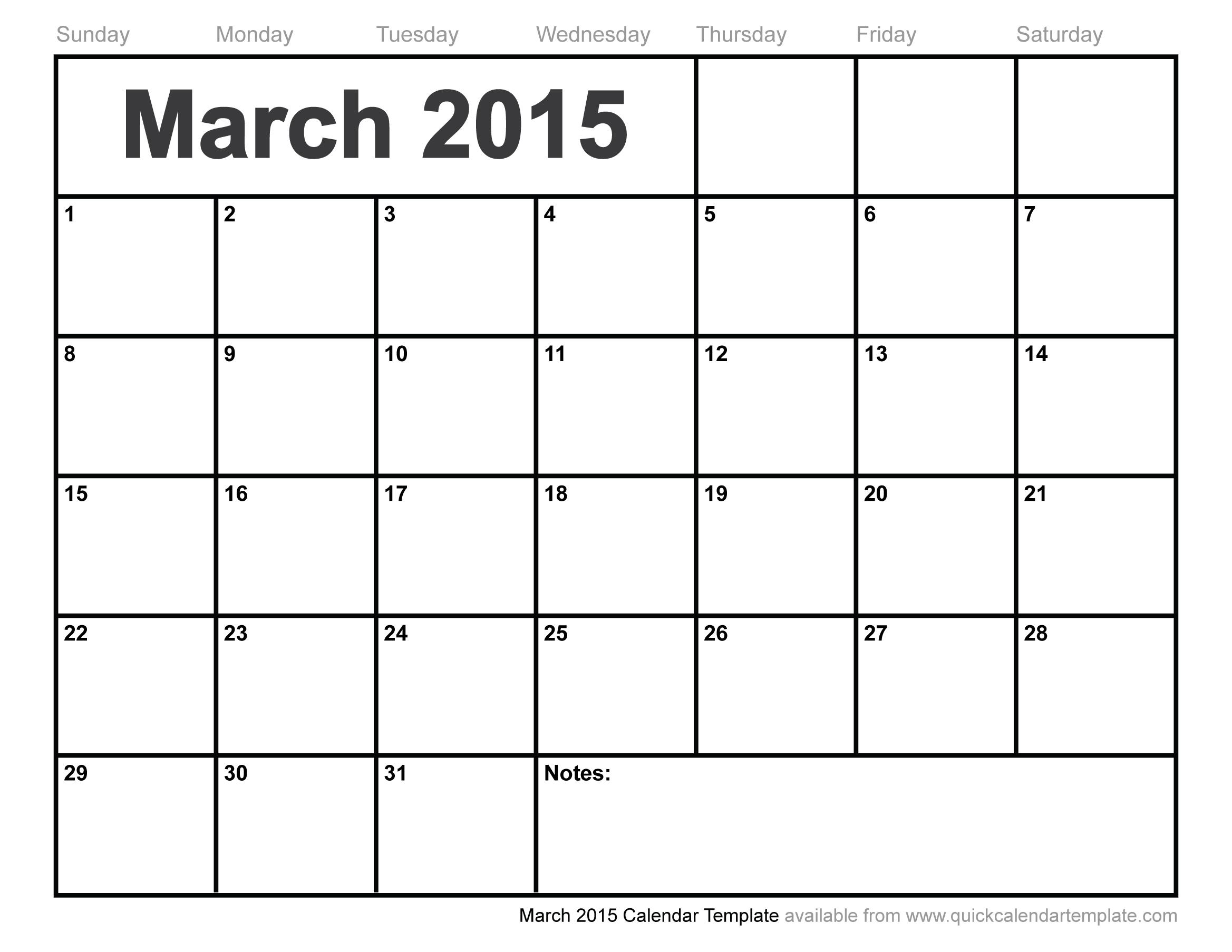 photo calendar template 2015