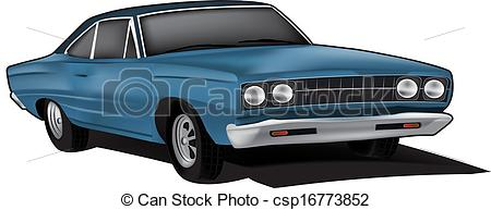 Muscle Car Illustration Drawings