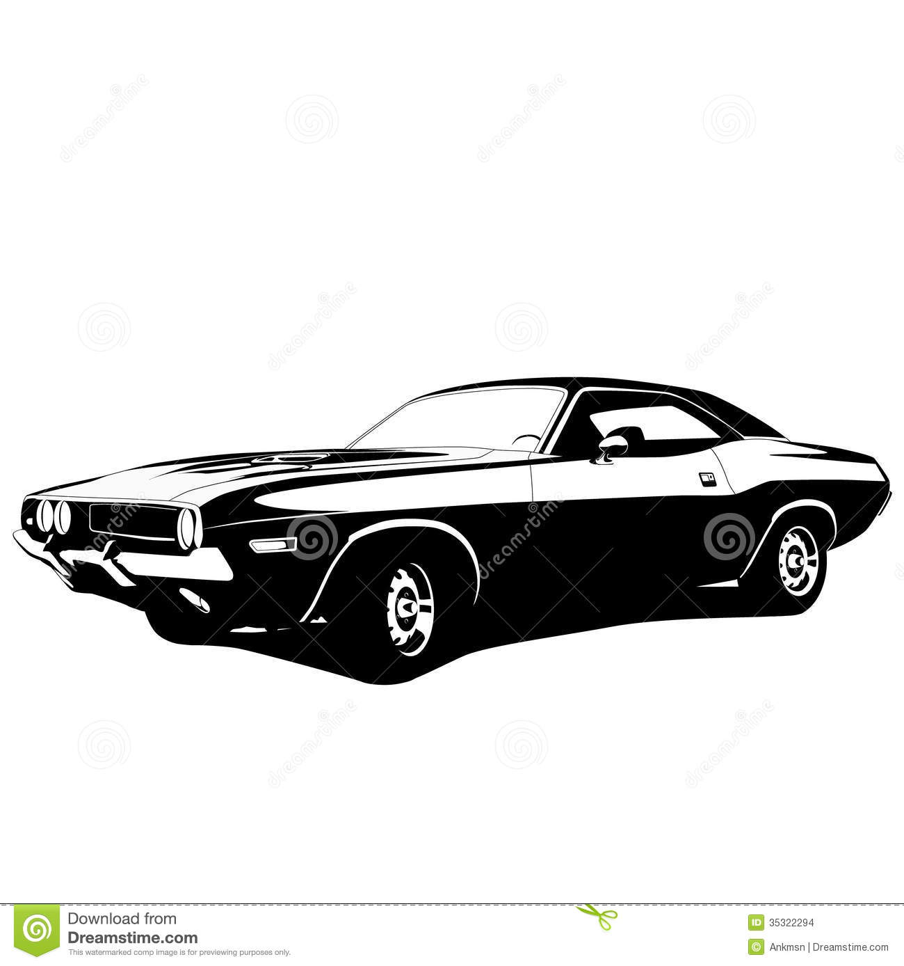 15 Muscle Car Vector Clip Art Images