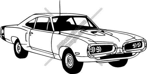 Muscle Car Vector Art