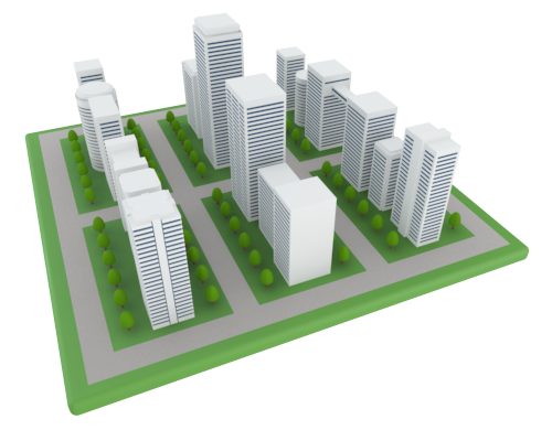 12 3d Office Building Icon Images 3d Building Icon