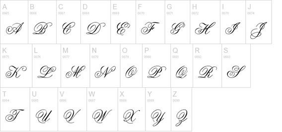 Old English Script Handwriting Font