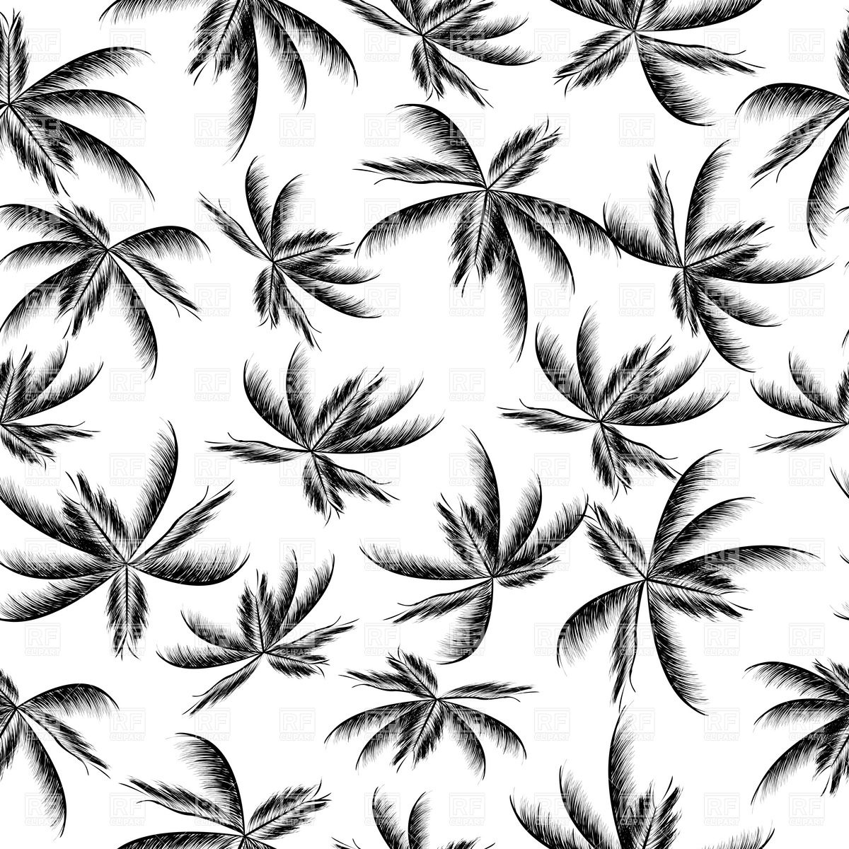 15 Palm Tree Free Vector Patterns Images