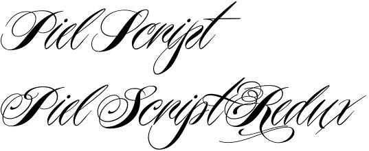 7 Piel Script Font Images