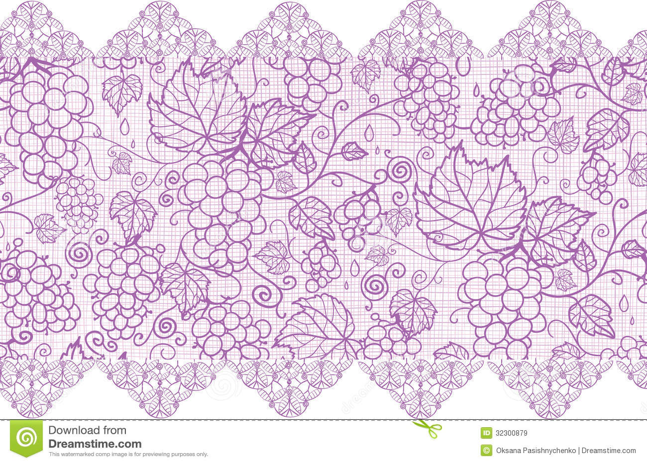 13 Vintage Purple Lace Pattern Vector Images