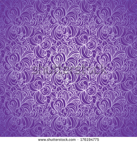 Purple vintage floral pattern - photo#12