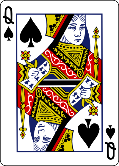 Queen Playing Card Vector