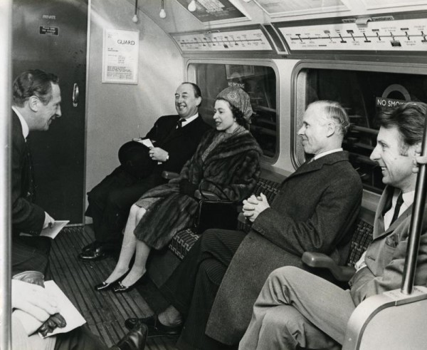 Queen Victoria On a Train