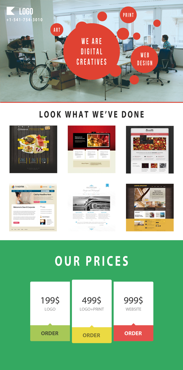 Responsive Web Page Template Free