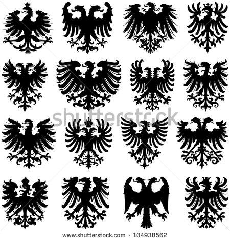 Roman Eagle Silhouette
