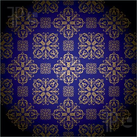 Royal Blue and Gold Patterns