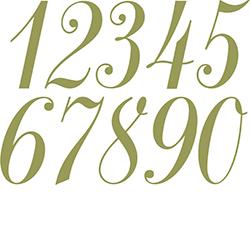 Script Number Fonts